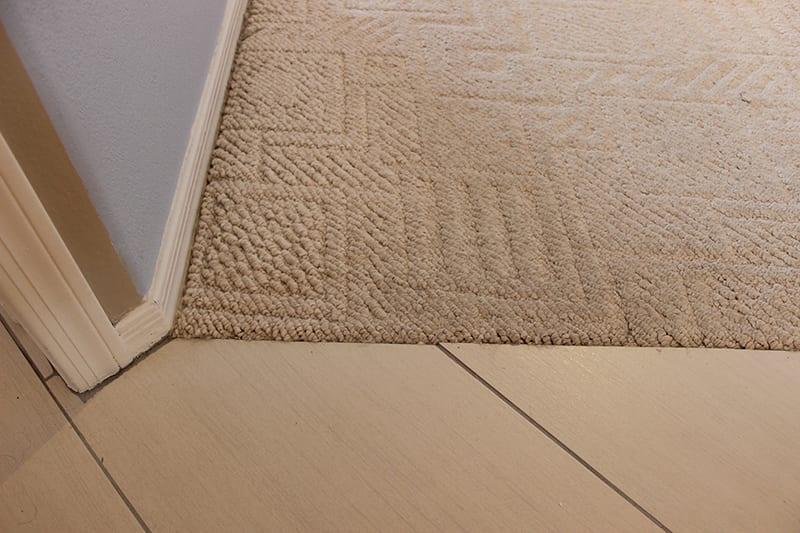 carpet to tile transition carpet